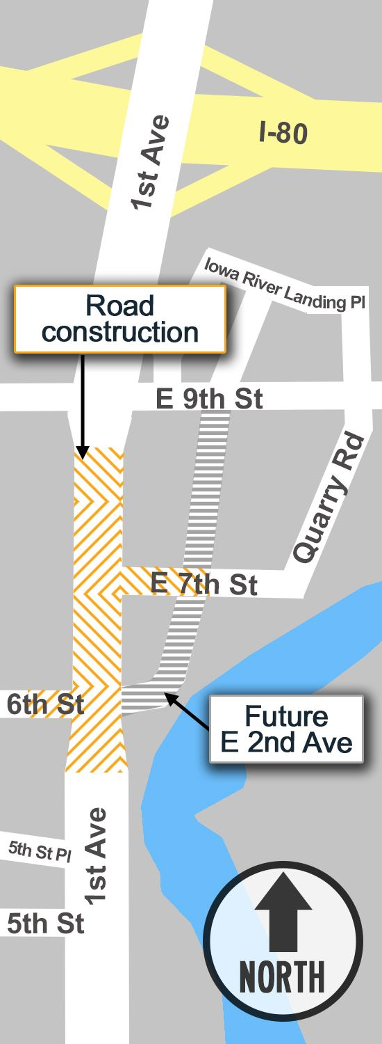 1st Ave Construction Map 2018
