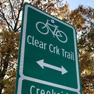 Clear Creek Trail sign