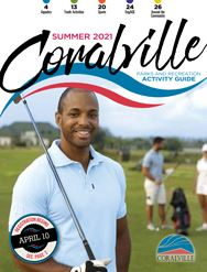 Summer 2021 Activity Guide Cover man golfing